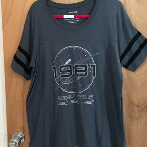 Torrid spaceship  graphic T-shirt